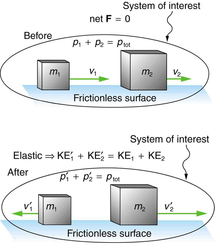 Elastic Collisions in One Dimension - VOER